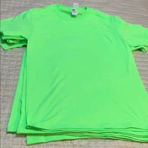 5 Fluorescent t-shirts